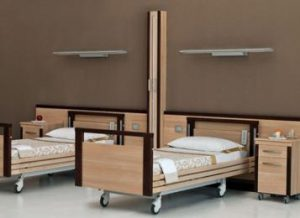 Totem Ward Screens with twin bedside units 3